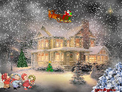 Snowy Christmas Eve Night